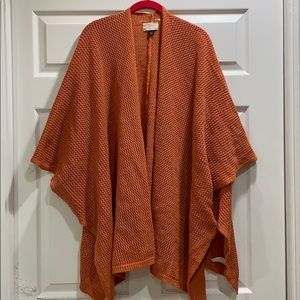 Universal Thread Orange Open Weave Sweater Kimono